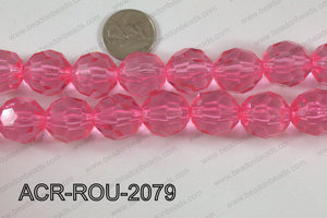 Acrylic Round faceted 20mm  ACR-ROU-2079