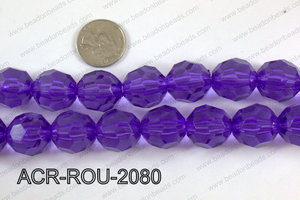 Acrylic Round faceted 20mm  ACR-ROU-2080