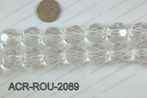 Acrylic Round faceted 20mm  ACR-ROU-2089