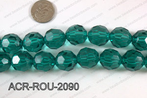Acrylic Round faceted 20mm  ACR-ROU-2090