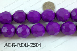 Acrylic Round faceted 25mm purple  ACR-ROU-2501
