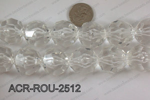Acrylic Round Faceted Clear 25mm ACR-ROU-2512