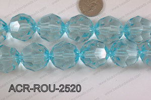 Acrylic Roud Faceted Blue 25mm ACR-ROU-2520