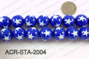 Acrylic Star Round Dark Blue 20mm ACR-STA-2004