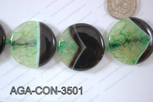 Agate Coin Green 35mm AGA-CON-3501
