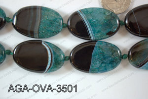 Agate Oval Blue 25x35mm AGA-OVA-3501