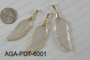 Agate feather pednant  AGA-PDT-6001
