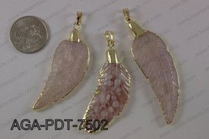 Agate feather pednant  AGA-PDT-7502