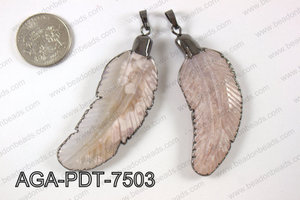 Agate feather pednant  AGA-PDT-7503