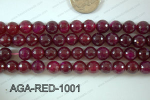 Red Agate Round Faceted 10mm AGA-RED-1001