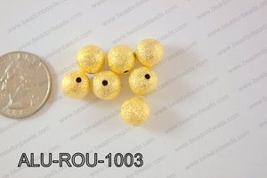 Aluminium  Beads Round 10mm gold ALU-ROU-1003