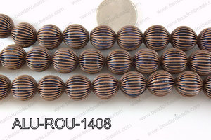 Aluminium Bead Copper 14mm ALU-ROU-1408