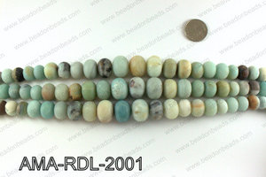 Rondelle Matte Amazonite beads 10-20mm AMA-RDL-2001