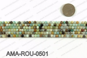 Round Amazonite beads 5mm AMA-ROU-0501