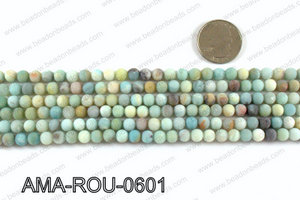 Round Matte Amazonite beads 6mm AMA-ROU-0601