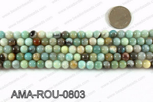 Round Amazonite beads 8mm AMA-ROU-0803