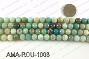Round Amazonite beads 10mm AMA-ROU-1003