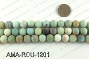 Round Matte Amazonite beads 12mm AMA-ROU-1201