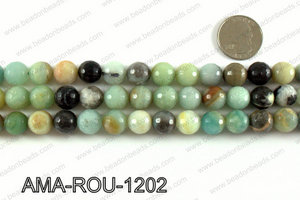 Round faceted Amazonite beads 12mm AMA-ROU-1202