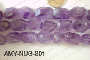 Amethyst Nugget Small Faceted 15-20mm AMY-NUG-S01