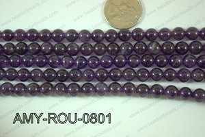 Amethyst Round 8mm AMY-ROU-0801