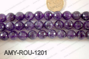 Amethyst Round Faceted 12mm AMY-ROU-1201