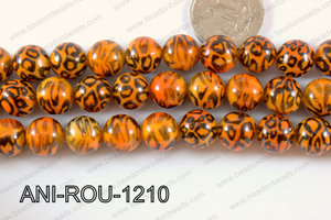 Animal Print Round 12mm orange ANI-ROU-1210
