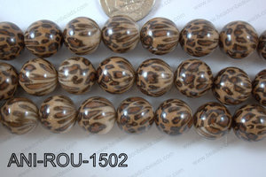 Animal Print Round Brown 15mm ANI-ROU-1502
