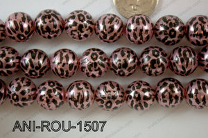 Animal Print Round Light pink 15mm ANI-ROU-1507