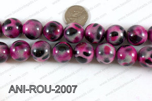 Animal Print Beads Round Pink 20mm ANI-ROU-2007