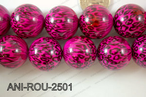 Animal Print Round Pink 25mm ANI-ROU-2501