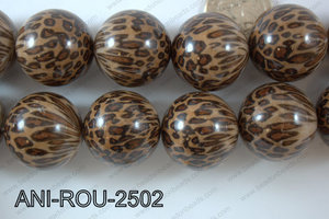 Animal Print Round Brown 25mm ANI-ROU-2502