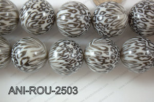 Animal Print Round Black and white 25mm ANI-ROU-2503