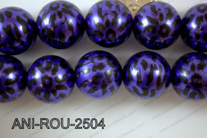 Animal Print Round Purple 25mm ANI-ROU-2504
