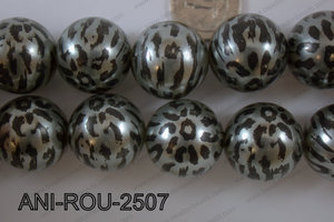 Animal Print Round Silver 25mm ANI-ROU-2507