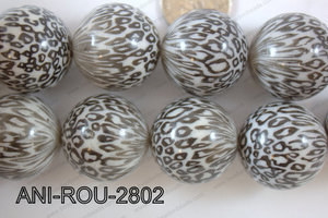Animal Print Round Black and white 28mm ANI-ROU-2802
