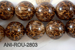 Animal Print Round Brown 28mm ANI-ROU-2803
