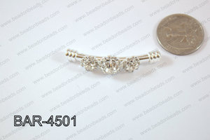 Bar Flower 12x45mm Silver BAR-4501
