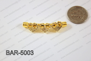 Bar hearts 12x50mm Gold BAR-5003