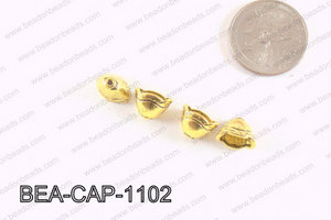Pewter Beadcap Gold 8x11mm BEA-CAP-1102