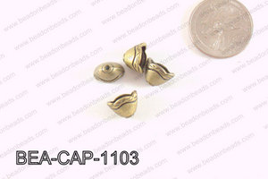 Pewter Beadcap Bronze 8x11mm BEA-CAP-1103