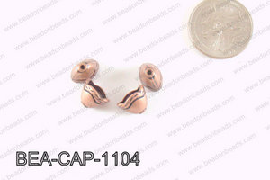 Pewter Beadcap Copper 8x11mm BEA-CAP-1104