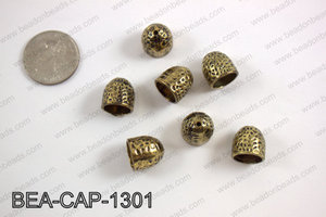 Bead cap 13mm, gold BEA-CAP-1301