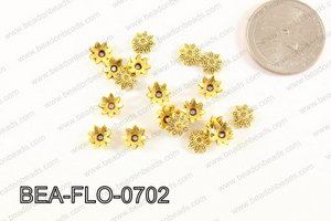 Flower Beadcap Gold 7mm BEA-FLO-0702