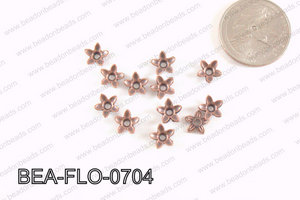 Flower Beadcap Copper 7mm BEA-FLO-0704