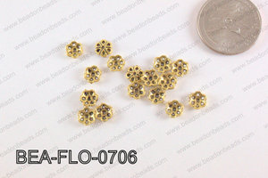 Flower Beadcap Gold 7mm BEA-FLO-0706