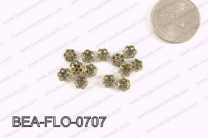 Flower Beadcap Bronze 7mm BEA-FLO-0707