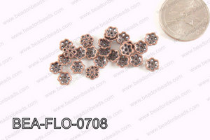 Flower Beadcap Copper 7mm BEA-FLO-0708