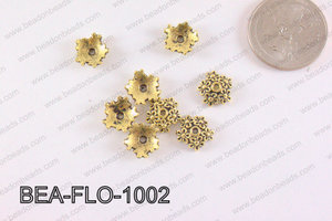 Flower Beadcap Gold 10mm BEA-FLO-1002