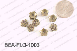 Flower Beadcap Bronze 10mm BEA-FLO-1003